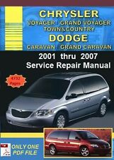 Chrysler Grand Voyager Dodge Grand Caravan 2001-2007 Service Repair Manual (PDF)