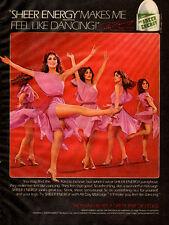 1980 vintage hosiery Ad L'EGGS Sheer Energy Pantyhose  Dancing Model (060115)