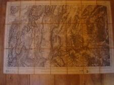 Mercier Carte Vizille Grenoble 1887 Corps d'état major dépôt de Guerre 1/80000