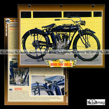 #141.01 Fiche Moto INDIAN 1000 V-TWIN 1908-1915 Classic Motorcycle Card