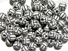 60pc Volleyball Beads for school sports jewelry necklaces bracelets kids crafts