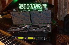 Shure UHF-R UR124D Dual Combo System UR1 WL185 UR2 SM58 J5