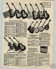 1963 PAPER AD Royalist Guitar Electric Ukulele Amplifiers Conga Drums