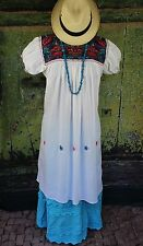 New Style Gauze Dress Chiapas Mexico, Puff Sleeves, Hippie, Boho, Resort Wear