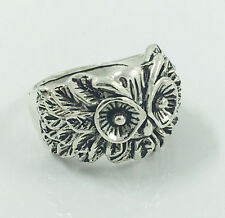 Vintage Men's Woman 316L Stainless Steel Vogue Design Mini Owl Ring Size 8