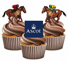 Horse Racing Ascot Racecourse - 12 Edible Cup Cake Toppers Cake Decorations