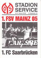 II. BL 91/92 1. FSV Mainz 05 - 1. FC Saarbrücken, 08.09.1991