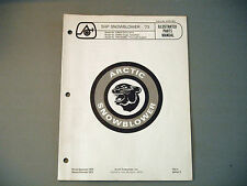 1973 Vintage Arctic Cat 5 HP Snowblower Parts Manual