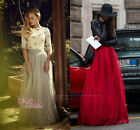 Multi Layers Women Long Tulle Skirt Puffy Princess Party Prom Formal Maxi Dress