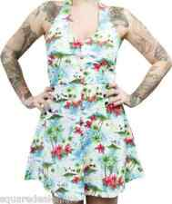 130013 Fly Me to Bermuda Halter Dress Sourpuss Pinup 50s Retro Island X-Large XL