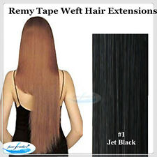 """20"""" AAA India Remy 100% Human Tape weft Hair Extensions Black/Brown/Black colour"""