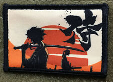 Samurai Champloo Morale Patch Anime Tactical Milspec Hand Printed in USA