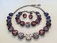 Swarovski Crystal Elements Fall Colors Antique Silver Cup Chain 12mm Jewelry Set