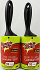 New 2 Scotch Brite Lint Roller Remover 3M For Pet Hair Car Clothes 190 Sheets
