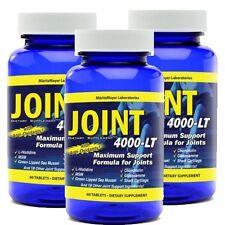 Maximum Strength Glucosamine Chondroitin MSM Joint 4000-LT Pain Relief x3
