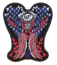DELUXE JUMBO EMBROIDERIED AMERICAN DOVES WINGS PATCH biker new JP67 patches dove
