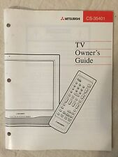 Mitsubishi Tv Televison Owner's Guide Manual Cs-35401