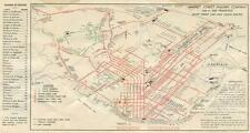Print. 1936-8. Map of San Francisco Market Street Railway Routes