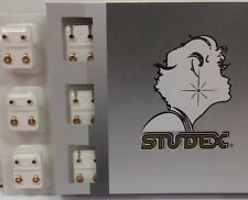 Studex Ear Piercing Gold Plated Multi Color Birthstone Studs 12 pack R204Y