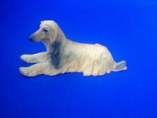 COLLECTIBLE POLY RESIN STATUE FIGURINE PET HOME DECOR AFGHAN HOUND DOG DOGGY