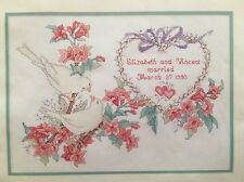 "JCA ELSA WILLIAMS ""LOVE BIRDS WEDDING SAMPLER"" COUNTED CROSS STITCH KIT"