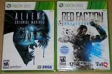 XBox 360 Game Lot - Aliens Colonial Marines (New) Red Faction Armageddon (New)