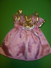 COROLLE..COROLLE MINI CALIN COROLLINE..ROBE ROSE ET DORE