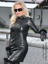Lederkleid Leder Kleid Schwarz Langarm Maßanfertigung