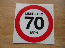 LIMITED TO 70 MPH - 120mm Decal - car / van / truck sticker
