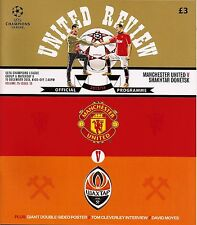 MANCHESTER UNITED v SHAKHTAR DONETSK Champions League 2013/14 MINT