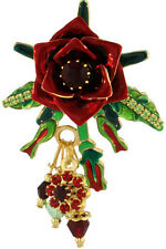 Lunch at The Ritz 2GO Tea Rose Pendant Red - Flowers