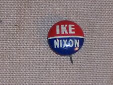 Vintage Eisenhower IKE and Nixon Dick Election Button Pin Badge Political L@@K