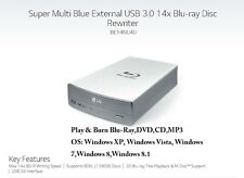 LG 14x Blu-ray Rewriter BD-RE/16x DVD±RW DL SuperSpeed USB 3.0 External Drive