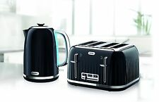 KETTLE AND TOASTER SET BREVILLE IMPRESSIONS 4 SLICE WIDE SLOTS BRAND NEW * BLACK