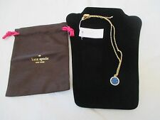NWT KATE SPADE BLUEOITTE ALL THAT GLITTERS DRUZY BLUE PENDANT NECKLACE