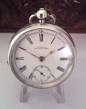 ANTIQUE SOLID SILVER WALTHAM   POCKET WATCH 1896/7  SERVICED