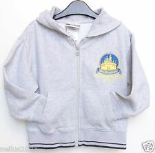 WDW Grey Castle Mickey Pluto Hoodie Zipped Hooded Jacket Cardigan XXS Age 2-3