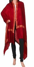 100% Cashmere Maroon Pashmina: The Royal Winter Maroon Embroideried Shawl