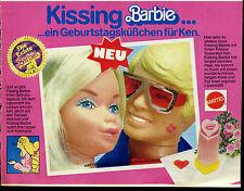 Barbie-- Kissing--ein Geburtstagsküßchen für Ken --Mattel --Werbung von 1979--
