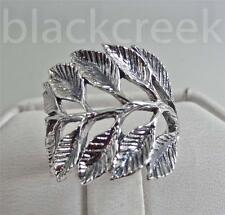 925 Sterling Silver ~ Lady's ~Branch/ Leaves~  Ring ~ Antiqued ~  Size 6