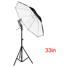 "Photography Light Stand + Flash Shoe Adapter Holder + 33"" Reflective Umbrella"