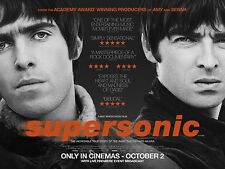 OASIS SUPERSONIC MOVIE POSTER LIAM NOEL CALLAGHER GEM ARCHER ANDY BELL BRIT POP