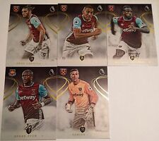 2016-2017 TOPPS PREMIER GOLD SOCCER WEST HAM UNITED TEAM SET 5 CARDS