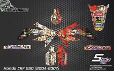CRF 250 CRF250 MX graphics kit decals CRF stickers 2004-2007 2005 2006 motocross