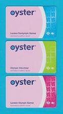RARE 3 x DIFFERENT OLYMPICS  OYSTER CARDS  - NOT FOR TRAVEL - COLLECTIBLE ONLY