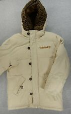 Timberland Insulated Heavy Thick Winter Parka Jacket (Mens Small) Tan