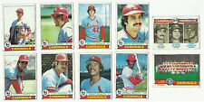 VINTAGE 1979 TOPPS BASEBALL CARDS – SAINT LOUIS CARDINALS – MLB