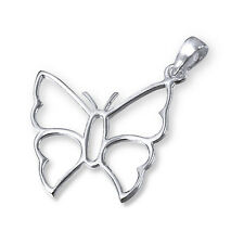 Quality 925 Sterling Silver Pendant- Butterfly Outline 18mm WithOUT Chain -Boxed