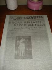 1946 The Messenger Knorr Watchtower I.B.S.A. Jehovah New Awake! Magazine