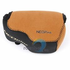 NEOpine Neoprene Soft Camera Protector Case Bag Cover Pouch For Sony A6000 Brown